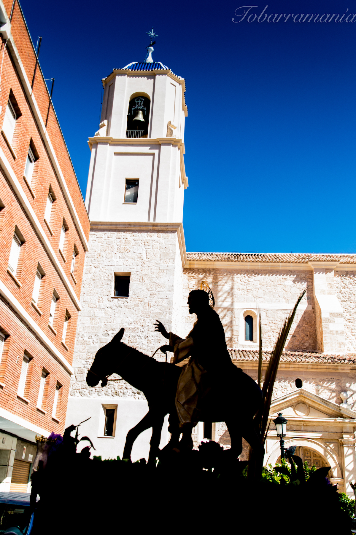 Burrica pasando por la Asunción Tobarra Domingo de Ramos