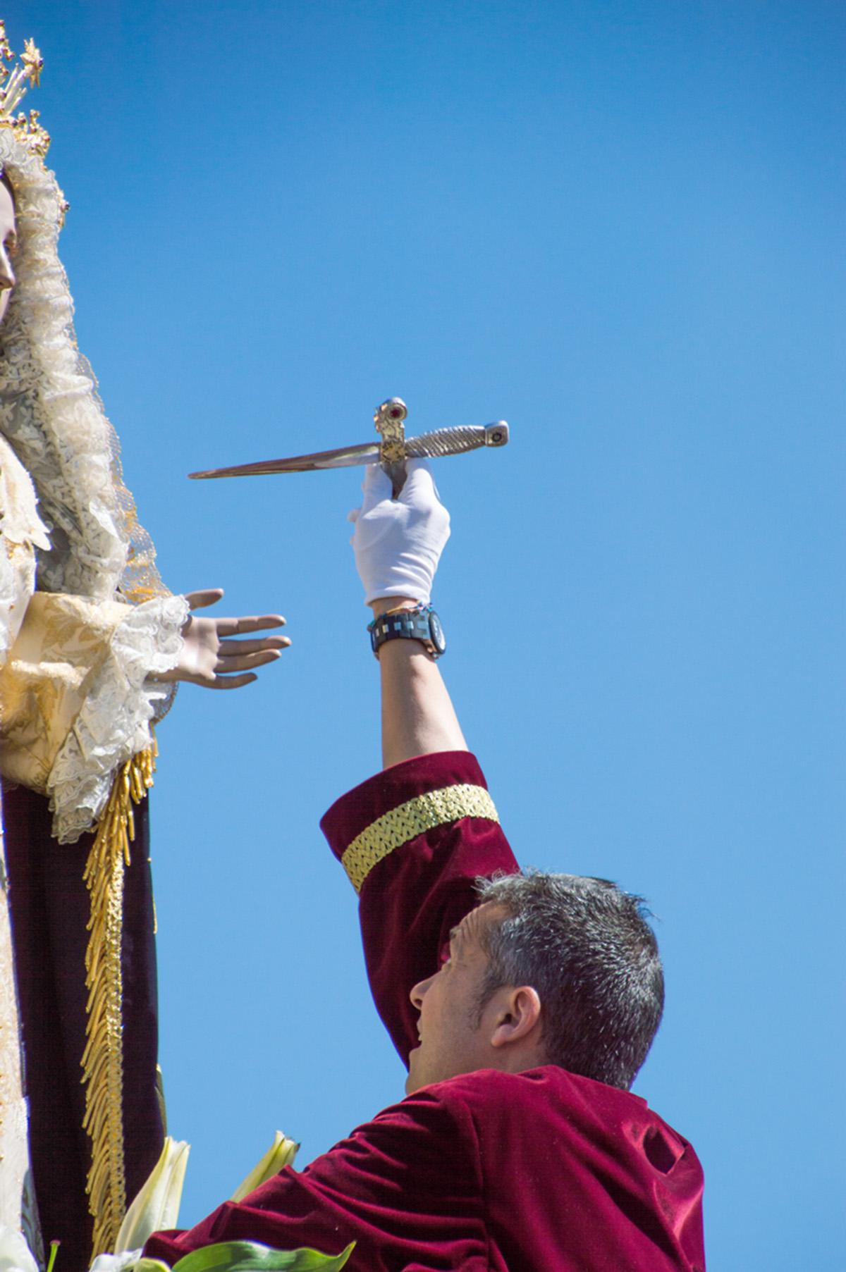 Retirada Puñal Virgen Dolores Domingo Resurrección Tobarra Semana Santa