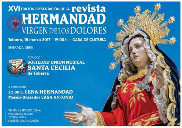 Cartel presentación revista Hermandad Virgen de los Dolores Tobarra