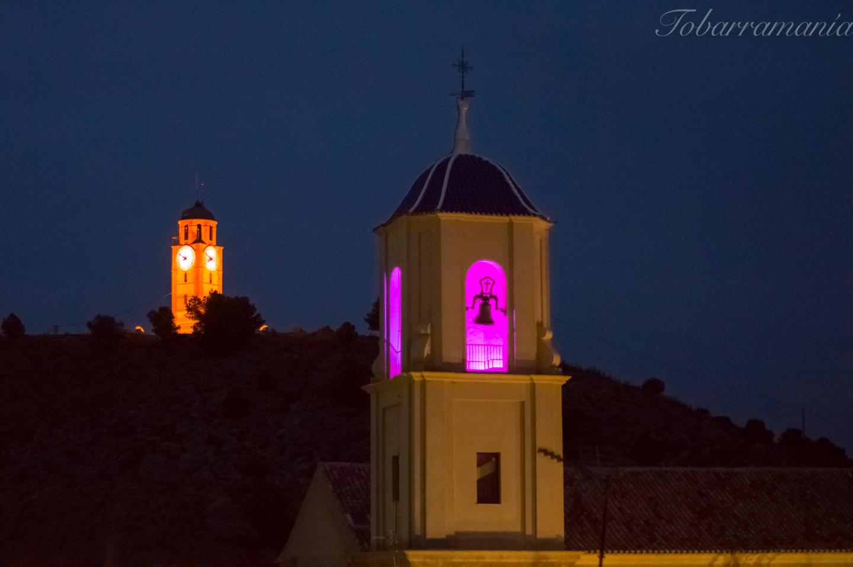 Reloj y torre de la Iglesia de la Asunción Tobarra