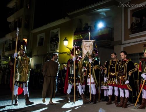Miércoles Santo 2017 en Tobarra. Tamborada Escolar y Prendimiento