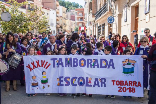 Tamborada escolar Tobarra. Semana Santa